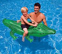 """58546 Детская надувной плотик """"Крокодил""""-168х86см."""