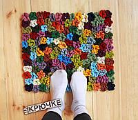 Вязаный коврик «Floral»