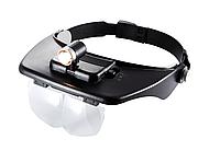 Лупа бинокулярная  - 60202 с  подсветкой