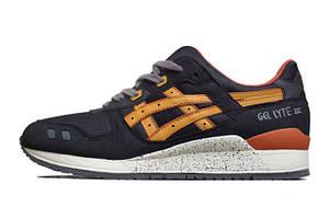 Мужские кроссовки Asics Gel Lyte III Black Tan черно-желтые