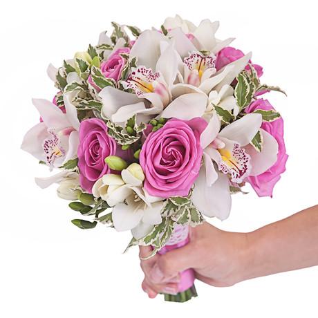 Букет з орхідей і троянд «Палітра любові»