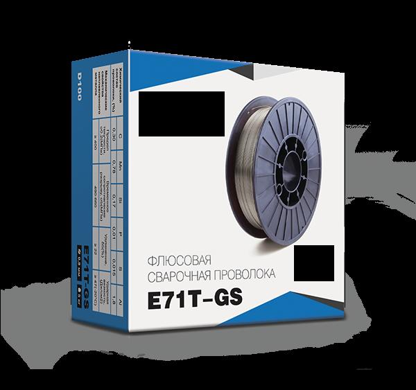 Сварочная проволока флюсовая самозащитная диаметр 1 мм E71T-GS (катушка 5 кг)