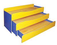 Кровать детская 3-ярусная (0833)