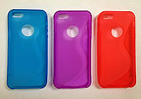 Чехол силиконовый для iPhone 5 5S  в наличии СИНИЙ