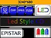 Бегущие строки P10 RGB 3240*680