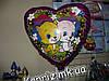 Шар Котята в сердце из цветов, наполненный гелием