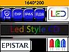 Бегущие строки P10 RGB 1640*200