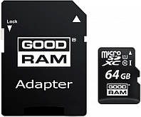 Карта памяти Goodram microSDXC class 10 UHS-1 SD adapter 64Gb, фото 1
