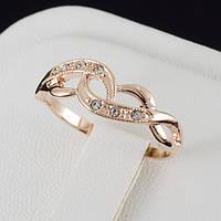 Чудное кольцо с кристаллами Swarovski, и позолотой 0210
