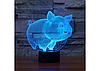 3D светильник 1103 Свинка