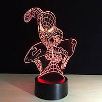 3D светильник ночник  1112 (Человек Паук), фото 1