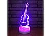 3D светильник ночник  1101 ( Гитара)