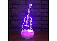 3D светильник ночник  1101 ( Гитара), фото 1