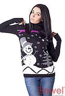 """Красивый женский свитер """"Снеговик"""""""