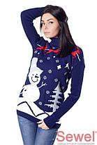 """Красивый женский свитер """"Снеговик"""", фото 2"""
