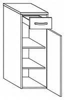 Нижний шкаф со столешницей Gorenje Slim BKG 30.16 R