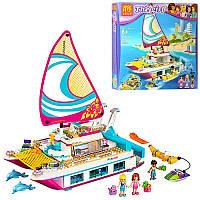 """Конструктор типа лего для девочки Friends (Френдс) - """"яхта"""", 37037"""