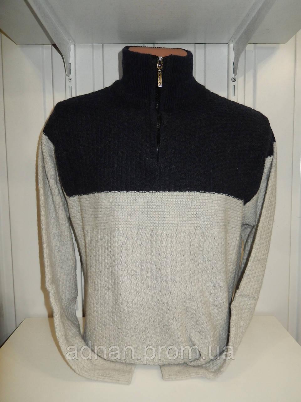 Свитер зимний, пол-замка WOOLPARK модель №763 001/ купить оптом свитер зимний