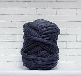 Толстая, крупная пряжа 100% шерсть 1кг (40м). Цвет: Гранит. 28 мкрн. Топс. Лента для пледов