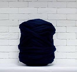 Толстая, крупная пряжа 100% шерсть 1кг (40м). Цвет: Марине. 28 мкрн. Топс. Лента для пледов