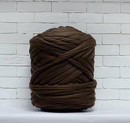 Толстая, крупная пряжа 100% шерсть 1кг (40м). Цвет: Мокко. 28 мкрн. Топс. Лента для пледов