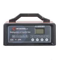 Зарядное устройство 12В, 5/10/15/20А, 230В, режим реанимации, десульфатации аккумулятора INTERTOOL AT-3021, фото 1