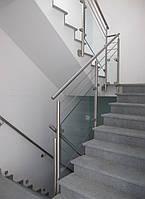 Ограждение из нержавеющей стали и стекла, фото 1