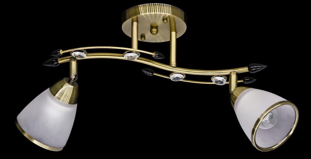 Люстра направляющая античная бронза двойка AR-004366, фото 1