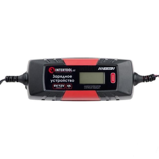 Зарядное устройство 6/12В, 1/2/3/4А, 230В, зимний режим зарядки, дисплей AT-3024