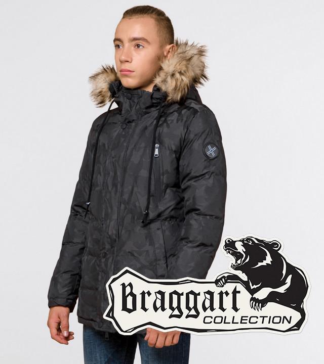 Braggart Youth   Куртка зимняя 25110 темно-серая