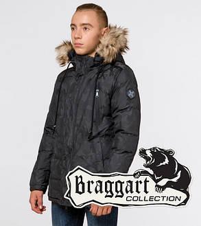 Braggart Youth   Куртка зимняя 25110 темно-серая, фото 2