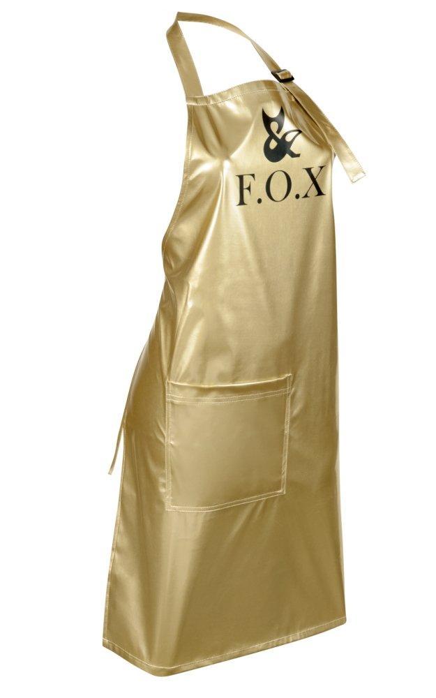 Фартук маникюрный (лаковая ткань) F.O.X, золотой