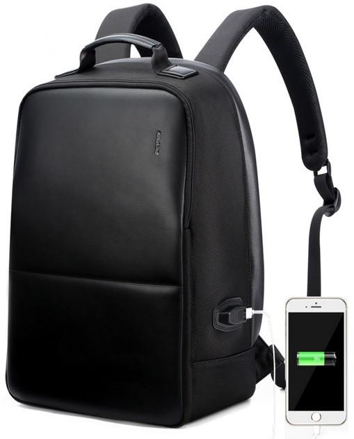 Рюкзак антивор Bopai с USB портом и отделением для ноутбука, черный (751-004501)
