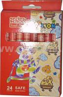 Олівці воскові кольорові 24 кольори MF18627-24 карандаши восковые