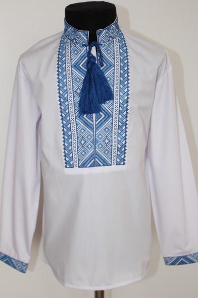 ... Этническая одежда детская  Вишиванка для хлопчика  Григорій синя.  Вишиванка для хлопчика  Григорій синя 565218f53b1ff