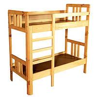 Кровать детская 2-ярусная из натурального дерева (81314)