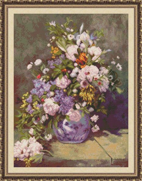Набор для вышивки крестиком Весенний букет Ю 0205