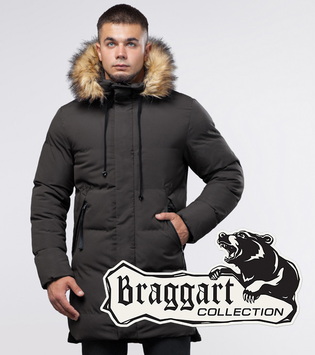 Braggart Youth | Куртка зимняя 25290 кофе