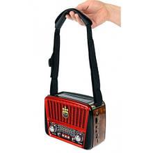 Портативная колонка MP3 USB Golon RX-456S Solar с солнечное панелью Brown-Red