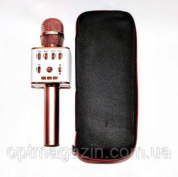Беспроводной микрофон-караоке USB,SD,FM,AUX и Bluetooth, фото 2