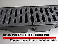 Комплект поверхностного водоотвода 90мм с черной ПП решеткой