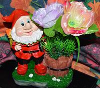 Ночник Гном садовник ночничок для дачи и декора
