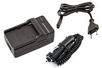 Зарядное устройство для аккумулятора Konica-Minolta NP-200 (2в1: от сети 220V и от авто 12V)