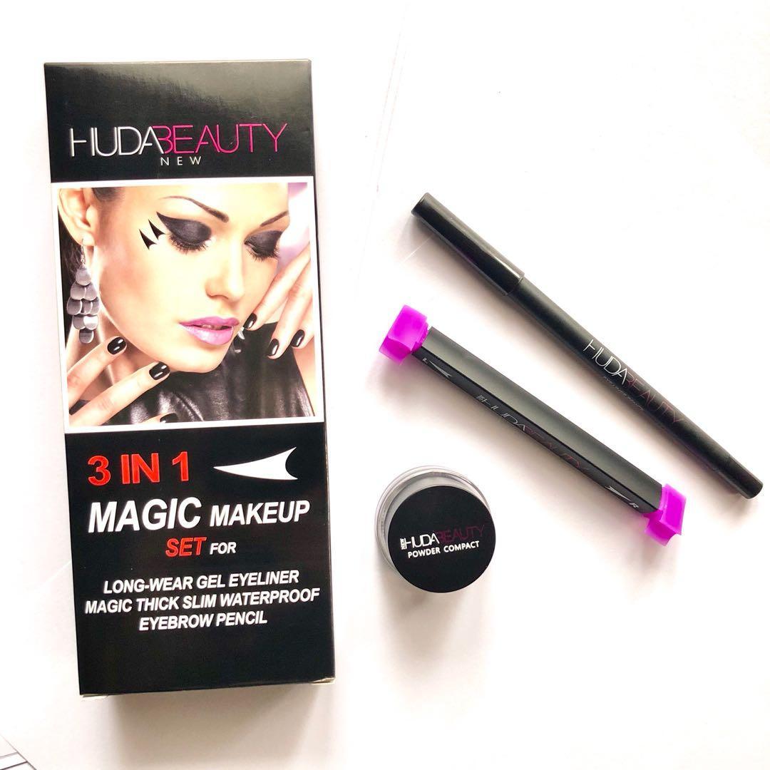 Набор для макияжа глаз Huda Beauty Magic Makeup 3в1, фото 1