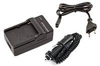 Зарядное устройство для аккумулятора Olympus LI-60B (2в1: от сети 220V и от авто 12V)