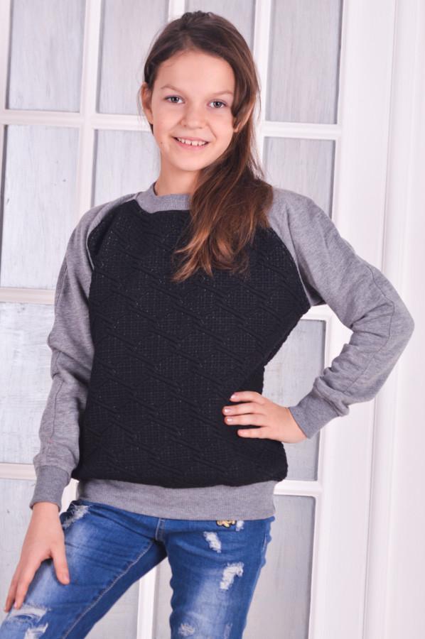 Свитшот для девочки стеганый рост 116-140