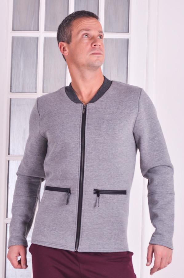 Бомбер мужской серый Fashion - family look Sport в Одессе