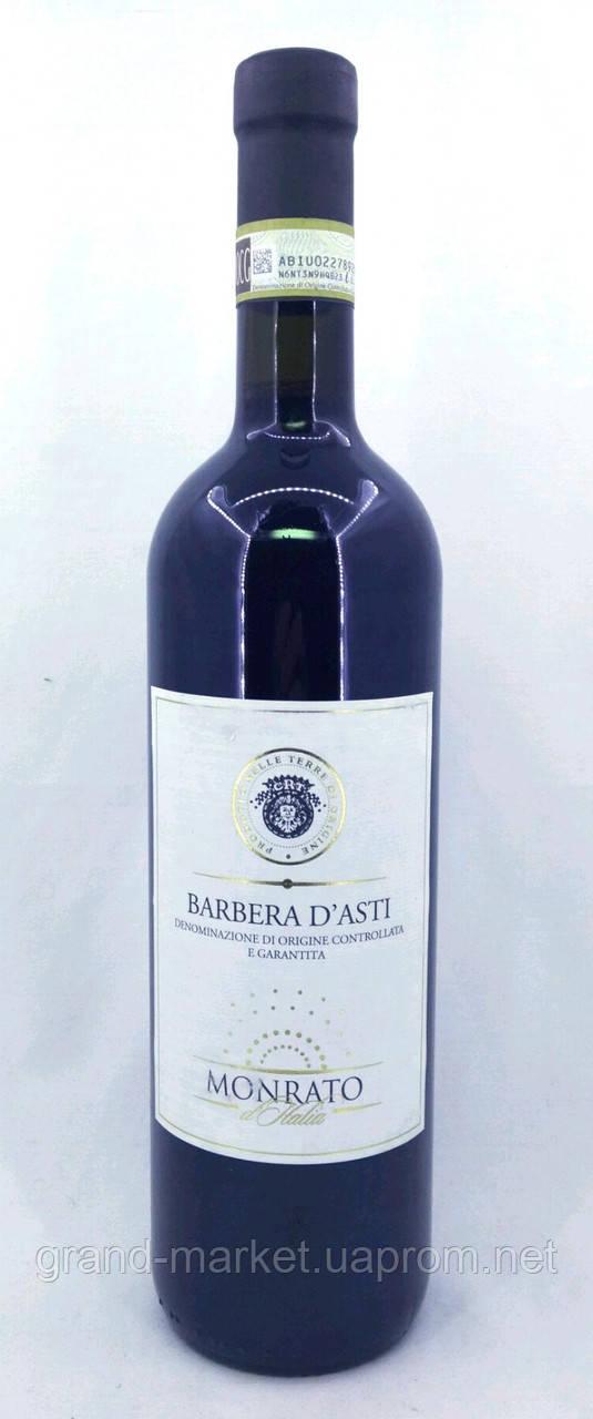 """Вино червоне """"Barbera d'asti Monrato"""" DOCG 0.7 l"""