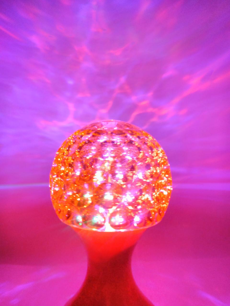 Ночник - Диско лампа в розетку шар  RHD-48