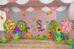 Как украсить детский сад к празднику 8 МАРТА
